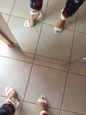 Weiße High Heels von Yessica