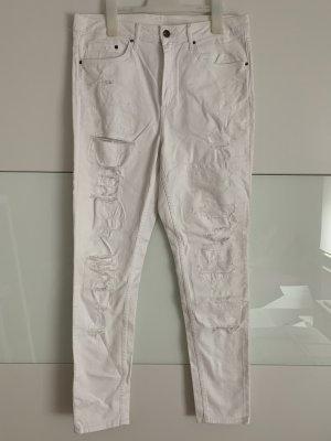 H&M Conscious Exclusive High Waist Trousers white