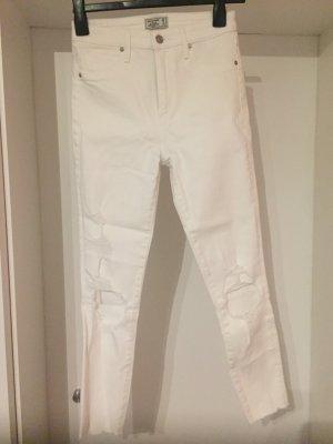 Weiße high waist Hose