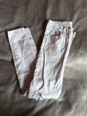 Weiße High Waist Jeans von Asos im Used Look