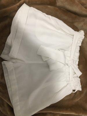 Weiße High Waist Short
