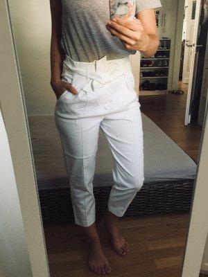 Weiße High-Waist Sommerhose von Opus // Enid