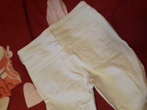weiße high waist von hollister