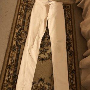 Weiße Highwaist Hose 34