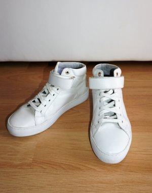 weiße, hohe Sneaker mit Klettverschluss von Vagabond