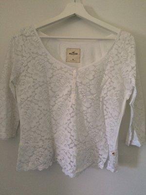 Weiße Hollister Bluse