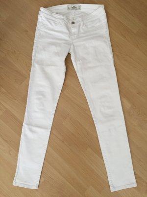 Weiße Hollister Super Skinny Jeans 5L W27 L31