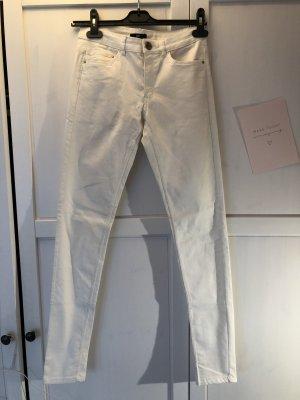 H&M Jeans a sigaretta bianco-oro