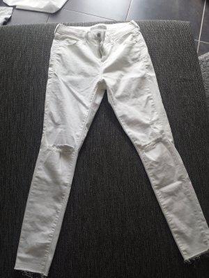 Topshop Drainpipe Trousers white