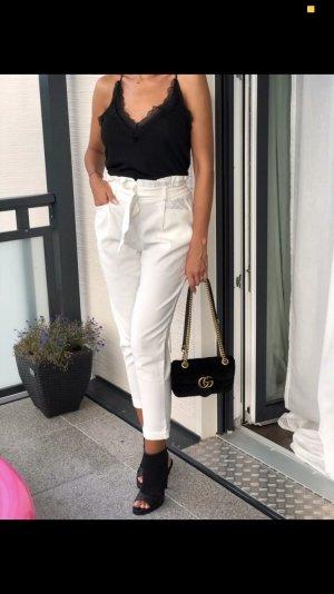 Zara High Waist Trousers white