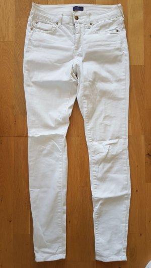 NYDJ Pantalón de tubo blanco Algodón
