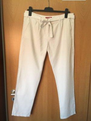 Weiße Hose aus Baumwoll-Leinenmischung