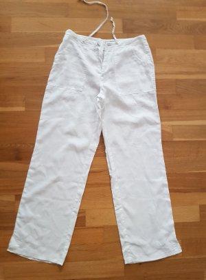 Esprit Pantalón de lino blanco Lino