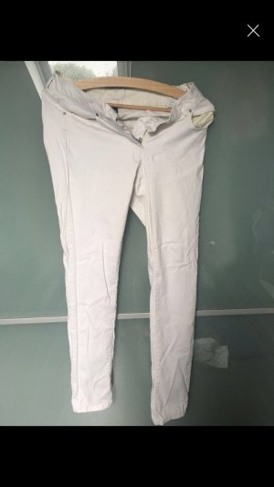 Peg Top Trousers white