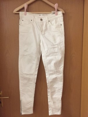 Weiße Hose Cubus Größe W25 Größe 34 Weiß Jeans