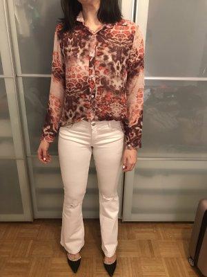 Zara Trafaluc Jeans a zampa d'elefante bianco