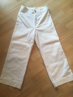 Weiße Hose / Jeans / Culotte von H&M in Gr. 38 / M weiß NEU