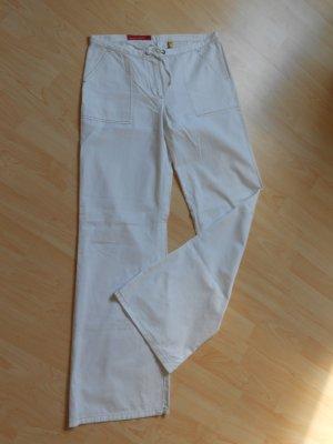 Weiße Hose Marlenestil Gr 34