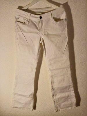 weiße Hose mit ausgestelltem Bein, Gr. 42