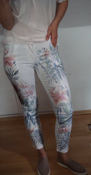 Made in Italy Pantalon cigarette multicolore coton