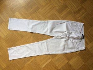 Weiße Hose Straight Leg