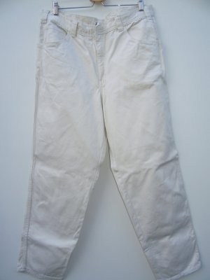 Vintage Boyfriend Trousers white