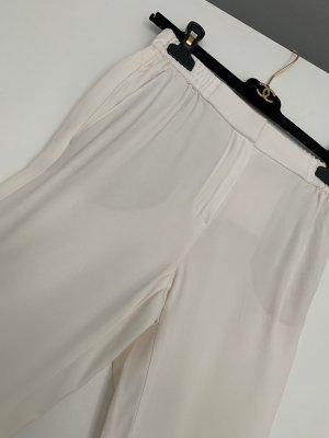 Massimo Dutti Pantalon à pinces blanc cassé acétate