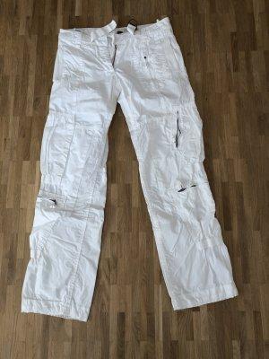 Weiße Hose von Napapijri mit vielen Details, Taschen und Reißverschlüssen!