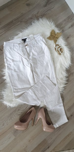 H&M 3/4 Length Trousers white