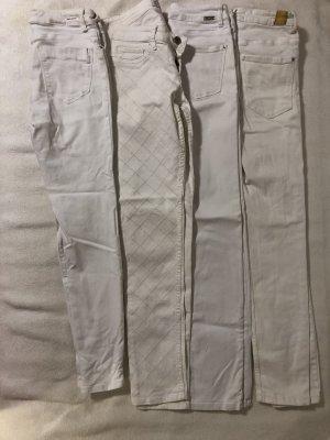 Zara Pantalone a sigaretta bianco