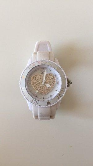 Weiße Ice watch mit Swarovski Steinen