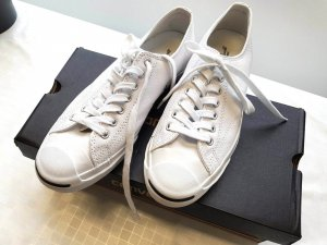 Weiße 'Jack Purcell Classic Colours' Sneakers aus Leder von Converse
