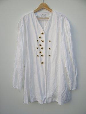 weiße Jacke Blazer mit goldenen Knöpfen Gr.54 Vintage Retro