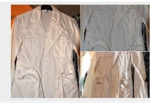 Weiße Jacke in Gr 40