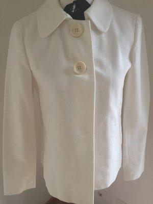 Weiße Jacke mit 2 Knöpfen von Zara