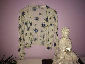 Weiße Jacke mit Blumen