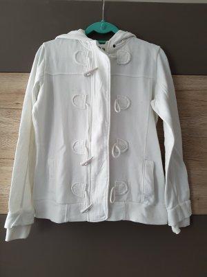 weiße Jacke, Sweatjacke, Gr. 40/M