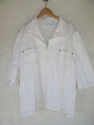 weiße Jacke Ulla Popken Vintage Retro Oversize