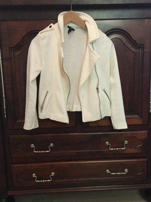 Weiße Jacke von H&M - Wasserfalloptik