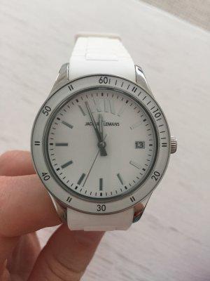 Weiße Jaques Lemans Uhr