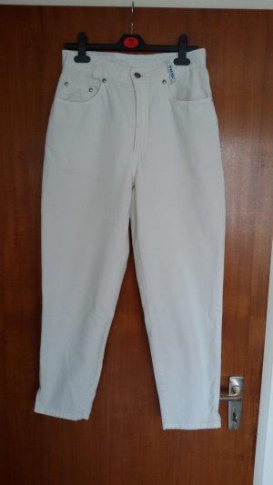 His Pantalone peg-top bianco Cotone