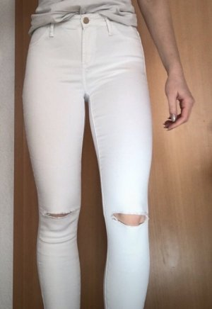 H&M High Waist Jeans white