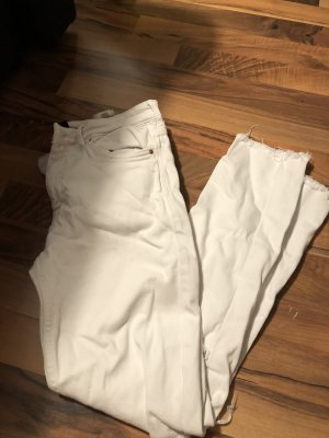 H&M Low Rise Jeans white