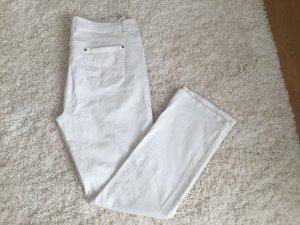 Weiße Jeans 5-Pocket gerade geschnitten