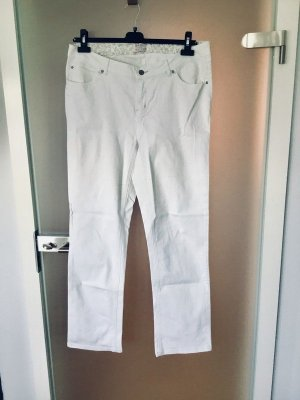 Straight Leg Jeans white cotton