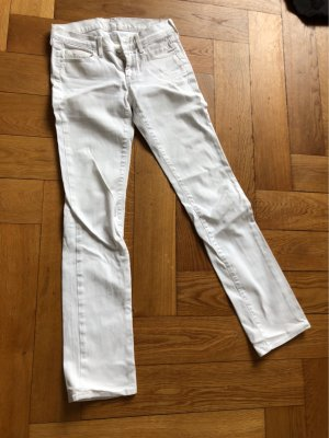 7 For All Mankind Jeans met rechte pijpen wit