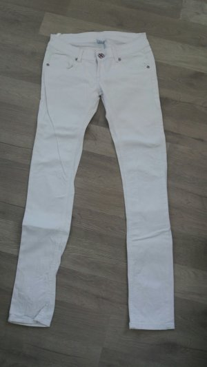 Weiße Jeans aus Itlaien mit tollen Knöpfen. Gr. S -NEU-