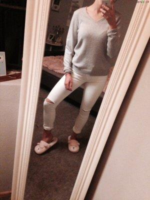 Weiße Jeans destroyed
