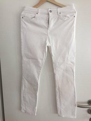 Weiße Jeans gerader Schnitt