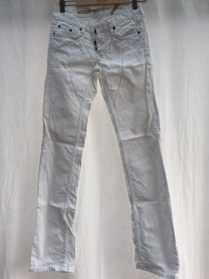 7 For All Mankind Jeans taille basse blanc